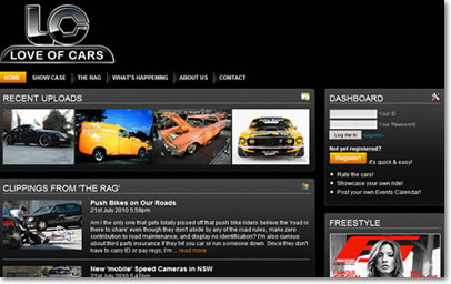 Love of Cars Website