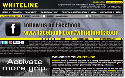 Whiteline Suspension Website